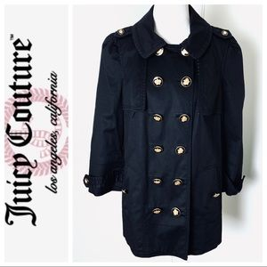 JUICY COUTURE Double Breasted Women's Black COAT